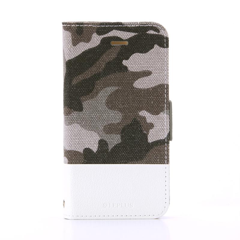 iPhone SE/5S/5 薄型ファブリックデザインケース 「PRIME Fabric」 カモフラージュ柄(B)