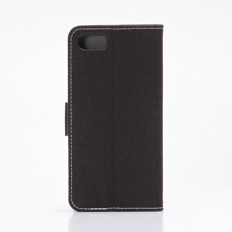 iPhone7 薄型ファブリックデザインケース「CASUAL」 ブラック