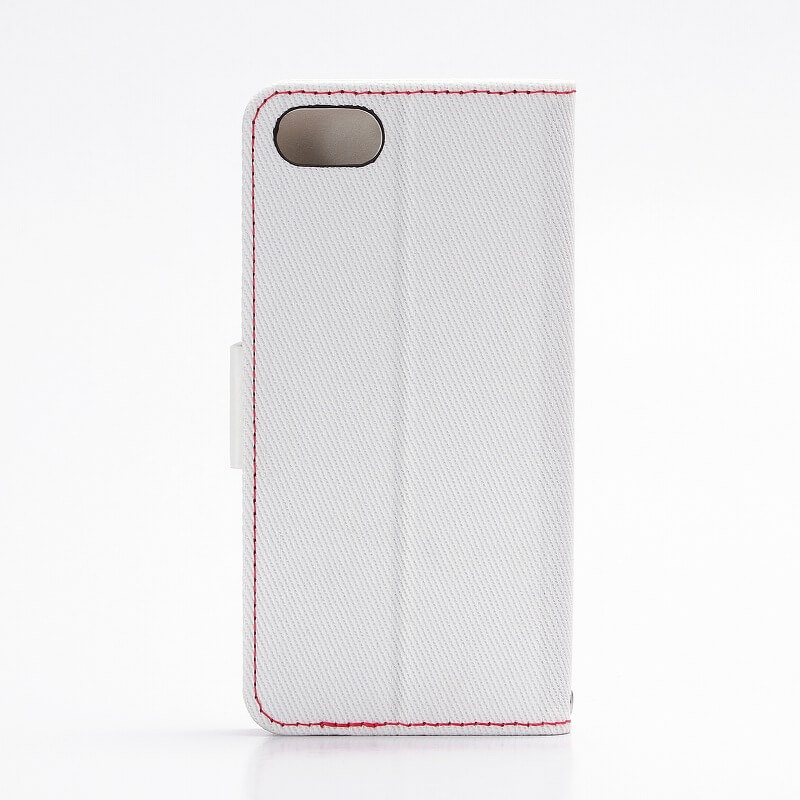 iPhone7 薄型ファブリックデザインケース「CASUAL」 ホワイト