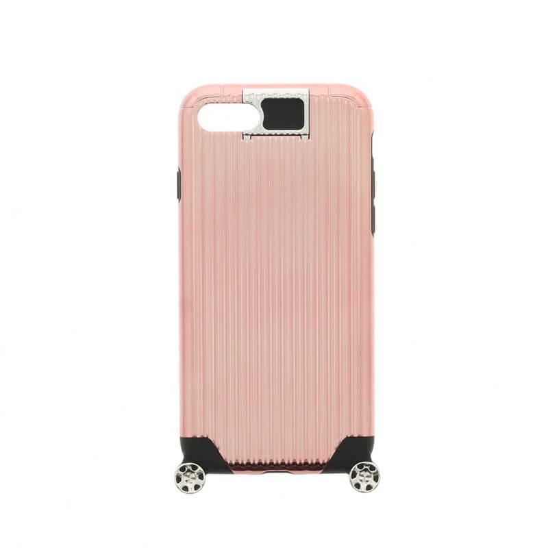 iPhone 7 【+U】Noah/キャリーケース風ハイブリットケース/ピンクゴールド