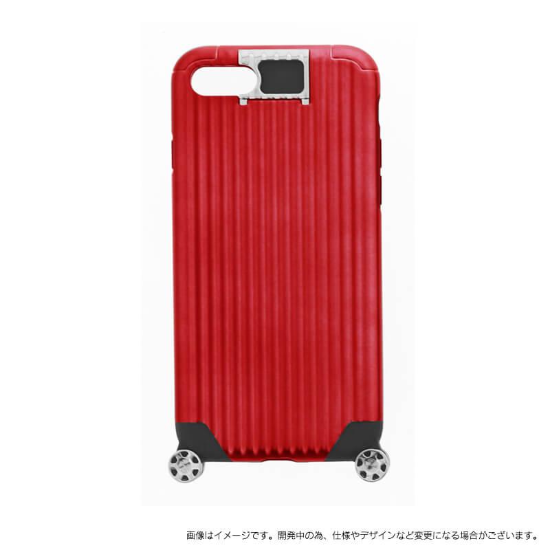 iPhone 7 【+U】Noah/キャリーケース風ハイブリットケース/レッド