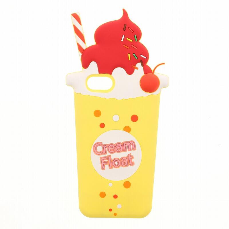 iPhone7/6s/6【Lucy】クリームフロートシリコンケース/レモン
