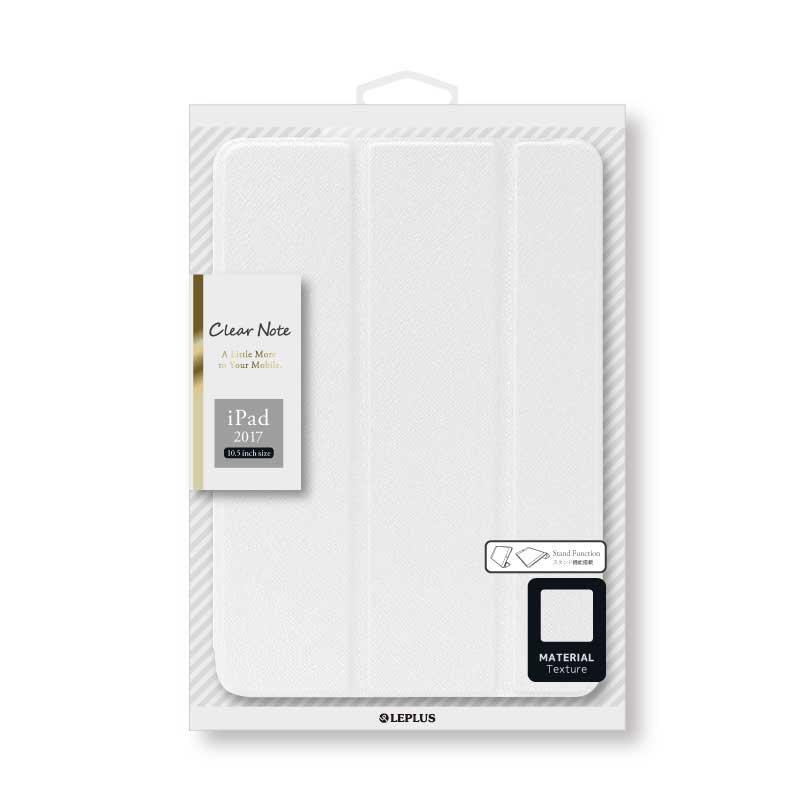 iPad Pro 10.5inch 背面クリアフラップケース 「Clear Note」 ホワイト