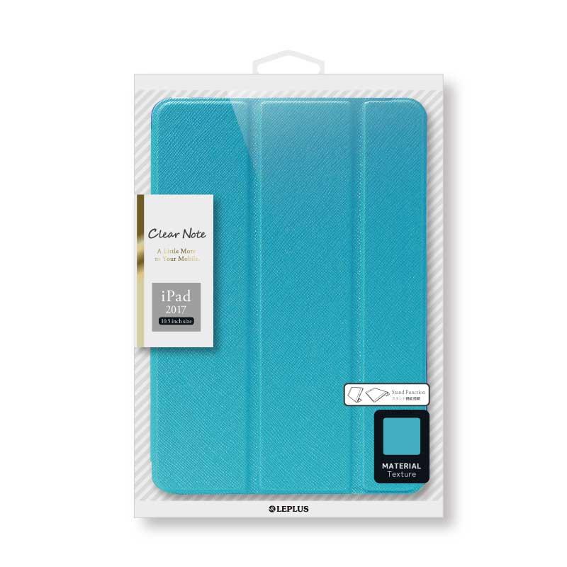 iPad Pro 10.5inch 背面クリアフラップケース 「Clear Note」 ブルー
