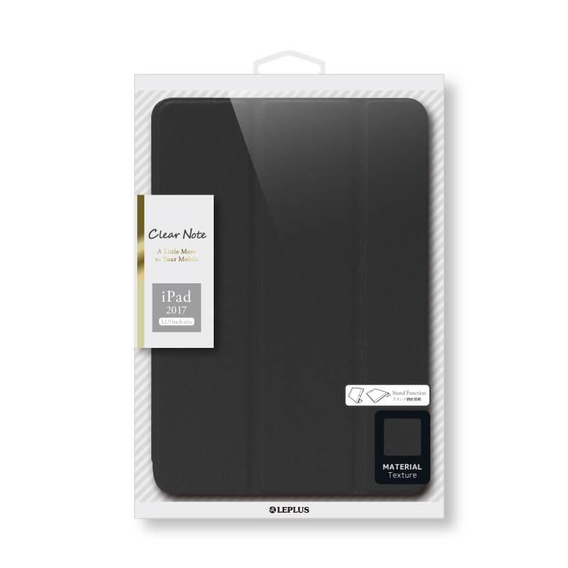 iPad Pro 12.9inch/iPad Pro 背面クリアフラップケース 「Clear Note」 ブラック