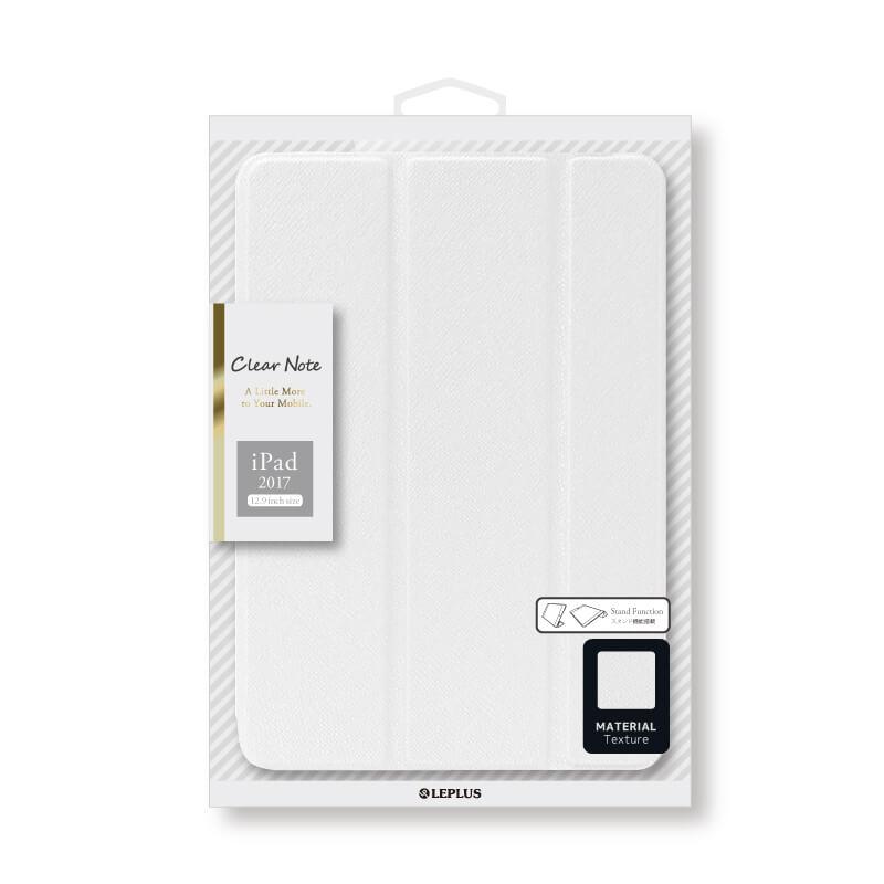 iPad Pro 12.9inch/iPad Pro 背面クリアフラップケース 「Clear Note」 ホワイト