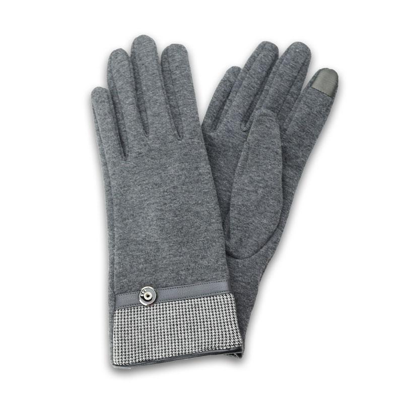 スマートフォン対応手袋「Lucy. Gloves」 グレー/千鳥格子