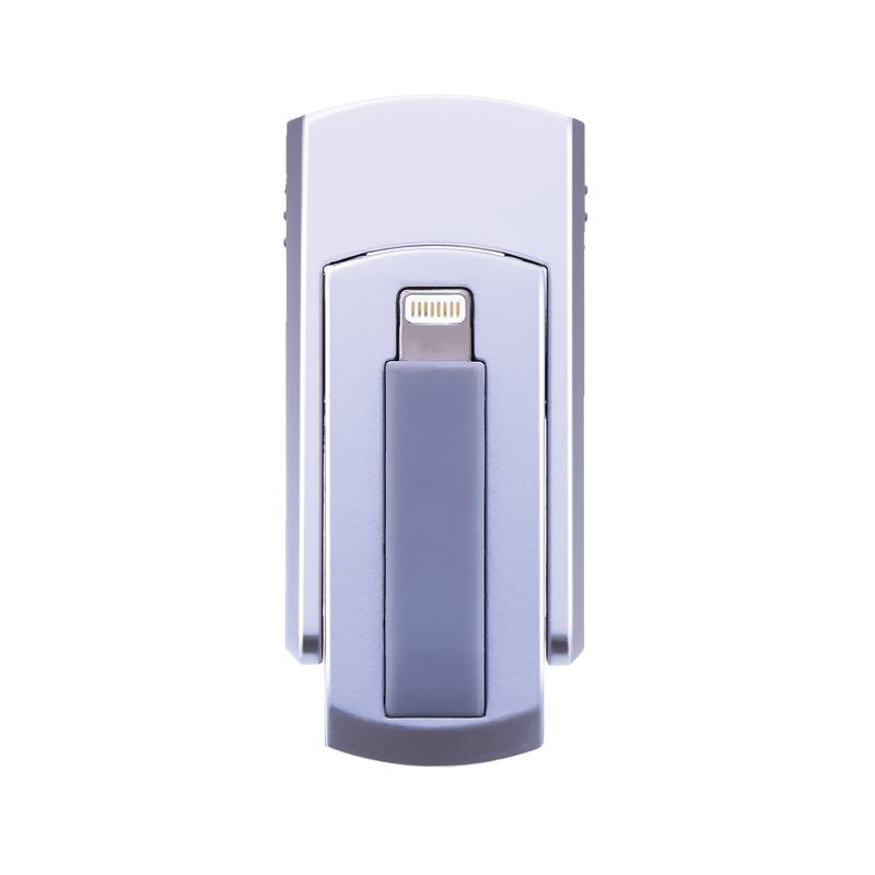iPhone/iPad/iPod Lightningコネクタ搭載SDカードリーダーライター「SwitchMemory EX」 シルバー