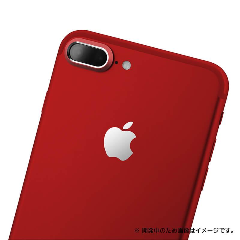 iPhone8 Plus/7 Plus カメラレンズプロテクター「Rich Lens」レッド