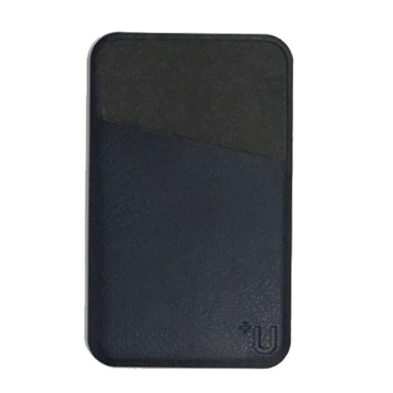 スマートフォン(汎用) 【+U】PUカードポケット/ネイビー