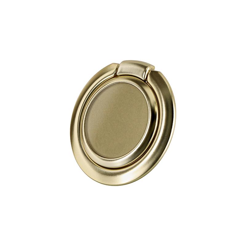 スマートフォン(汎用) ワイヤレス充電対応 スマートリング「Grip Ring Smart」 ゴールド