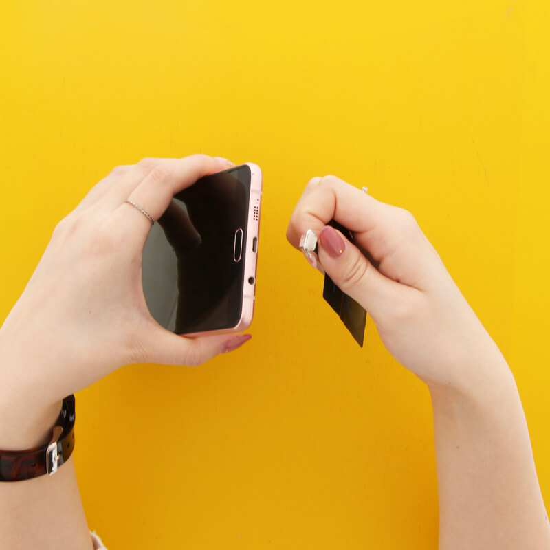 スマートフォン汎用【+U】Qi(チー)/ワイヤレス充電アダプター/microUSB