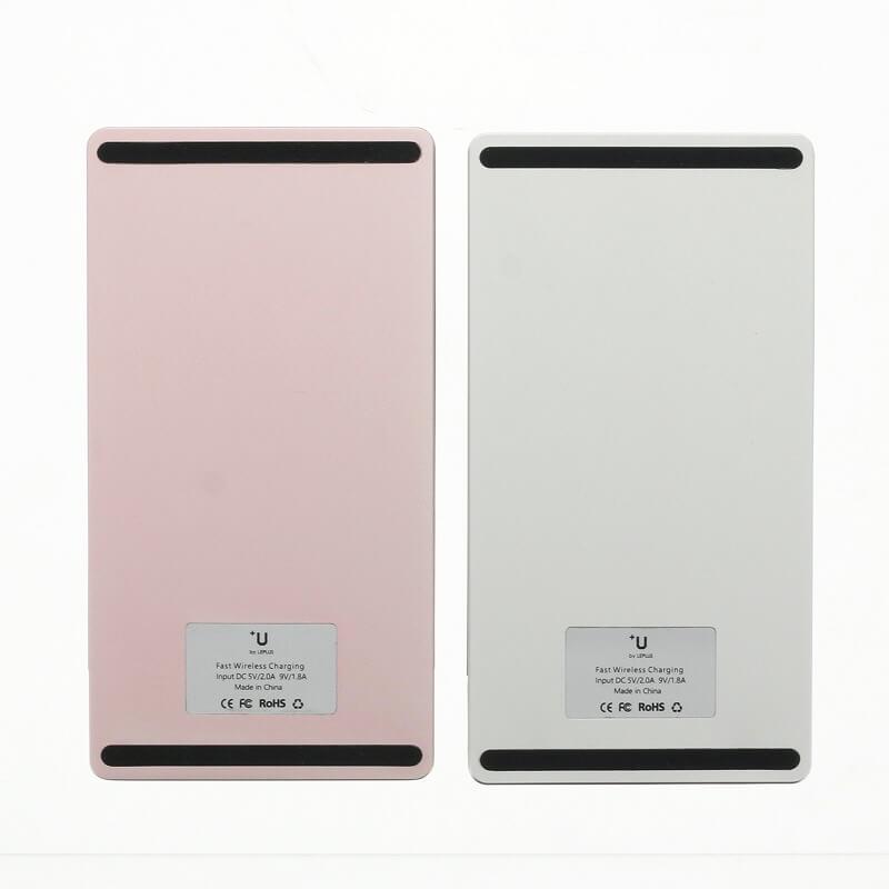 スマートフォン汎用【+U】Qi(チー)/ワイヤレス充電スタンド/シルバー