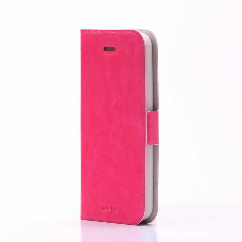 iPhone SE/5S/5 薄型PUレザーケース 「PRIME」 ピンク