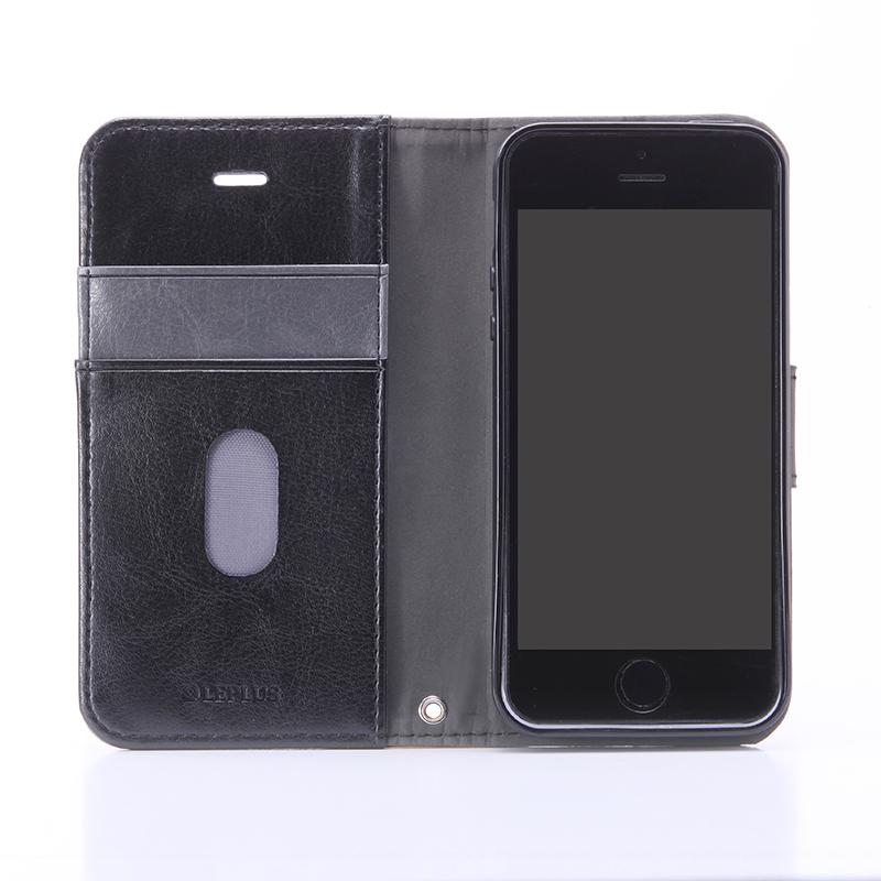 iPhone SE/5S/5 PUレザーケース 「BOOK」 ブラック