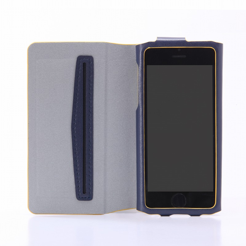 iPhone SE/5S/5 【+U】James/One Sheet of Leather case/ネイビー