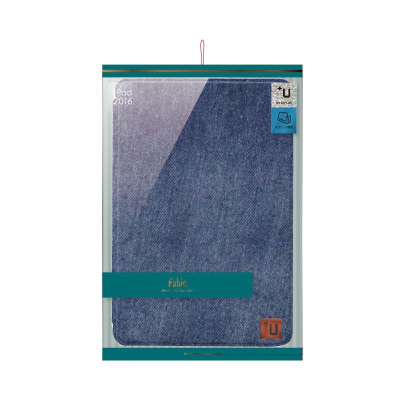 iPad Pro 9.7inch 【+U】Fabio/Slim Fabric Flap Case/デニム柄