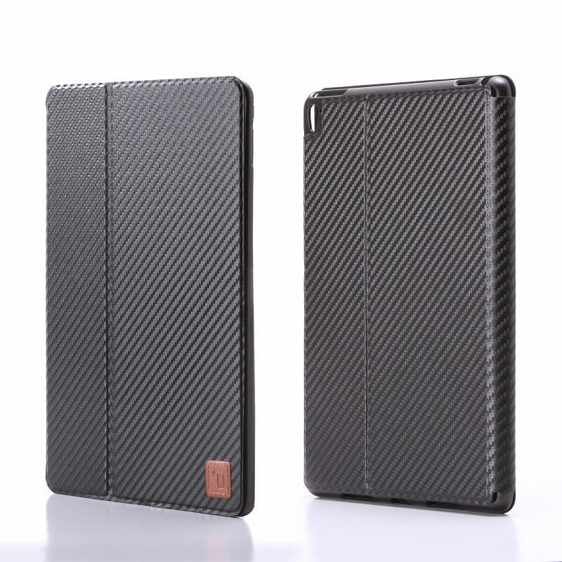 iPad Pro 9.7inch 【+U】Fabio/Slim Fabric Flap Case/カーボン柄