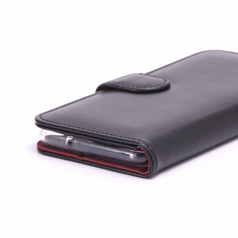 Galaxy S7 edge SC-02H/SCV33 ブックタイプPUレザーケース「BOOK」 ブラック