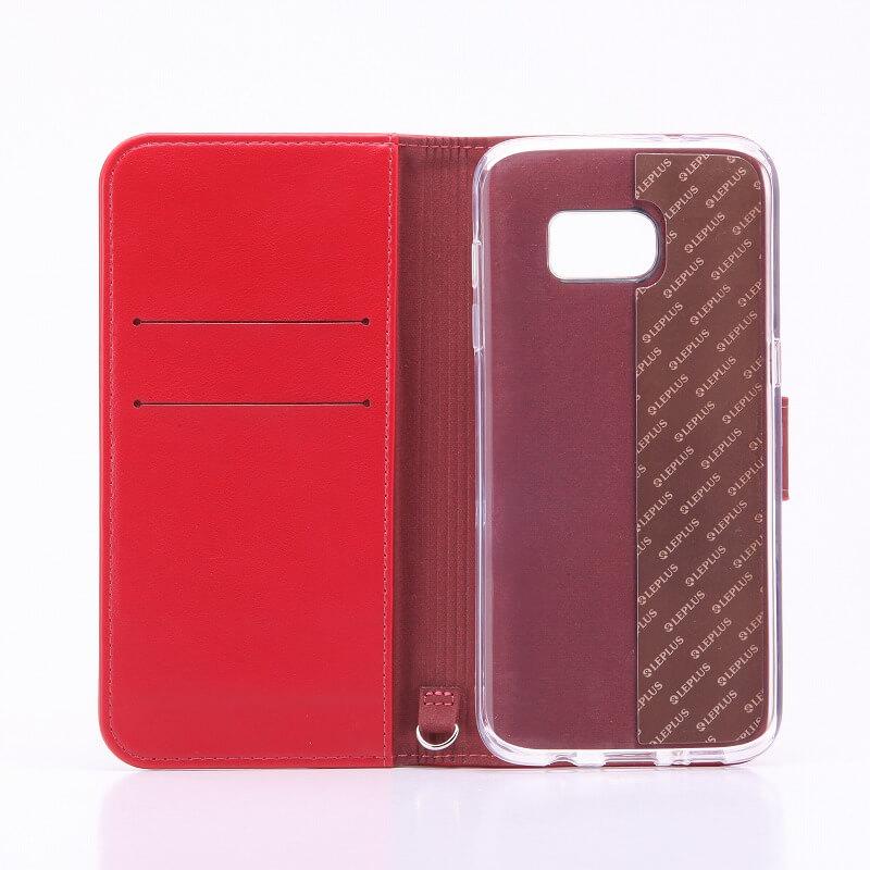 Galaxy S7 edge SC-02H/SCV33 ブックタイプPUレザーケース「BOOK」 レッド