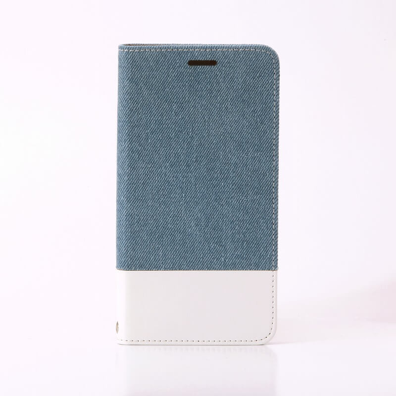 Galaxy S7 edge SC-02H/SCV33 薄型ファブリックケース「PRIME Fabric」 デニム柄(ライトブルー/ホワイト)