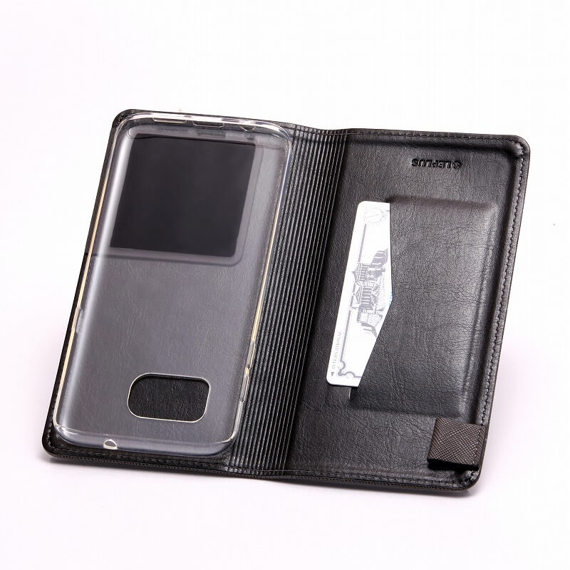 Galaxy S7 edge SC-02H/SCV33 2つのスタイルで使用できるケース「DUAL」 ブラック+クリアTPU