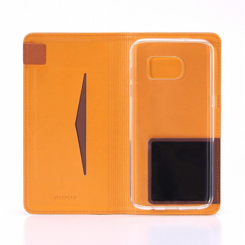Galaxy S7 edge SC-02H/SCV33 2つのスタイルで使用できるケース「DUAL」 ブラウン+クリアTPU