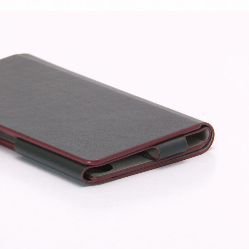 Xperia(TM) X Performance SO-04H/SOV33/SoftBank 【+U】James/One Sheet of Leather case グラファイトブラック
