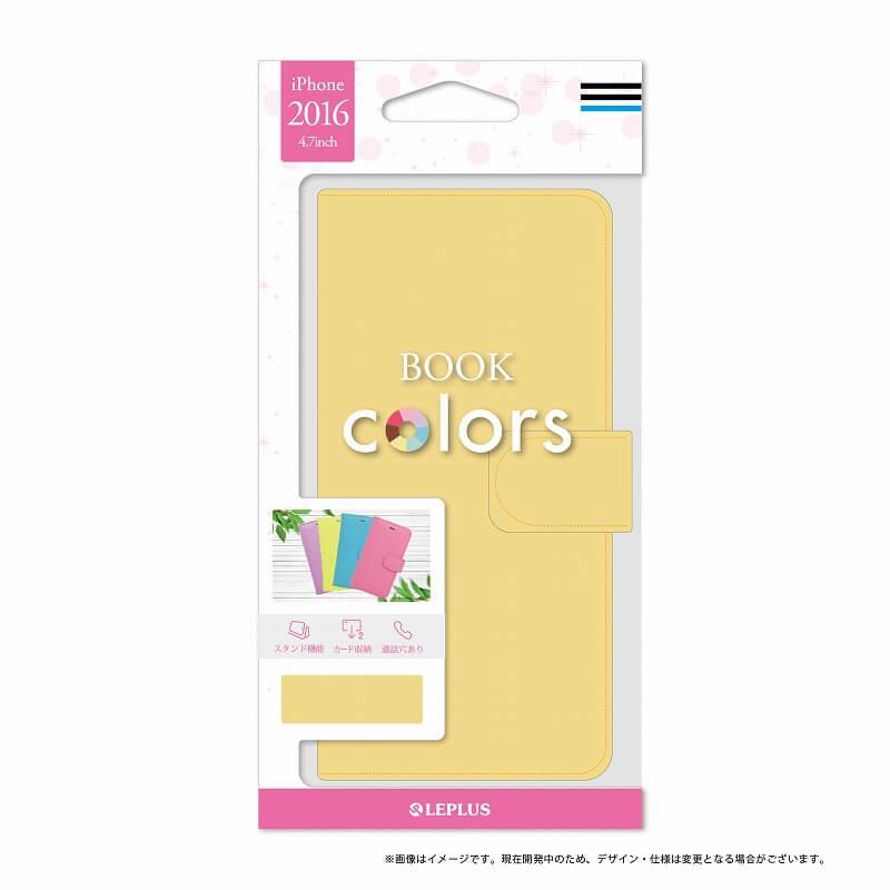 iPhone7 ブックタイプPUレザーケース「BOOK Colors」 クリームイエロー