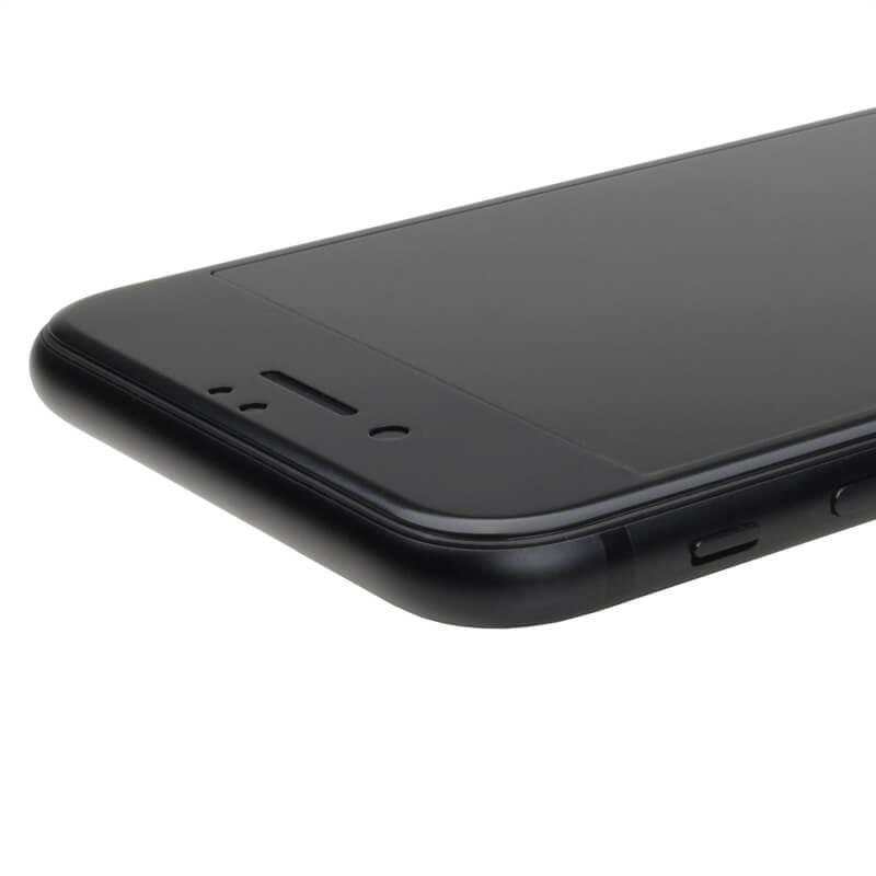iPhone7 ガラスフィルム 「GLASS PREMIUM FILM」 全画面保護 スーパーフィット 極薄ステンレススチール製 ブラック 0.15mm