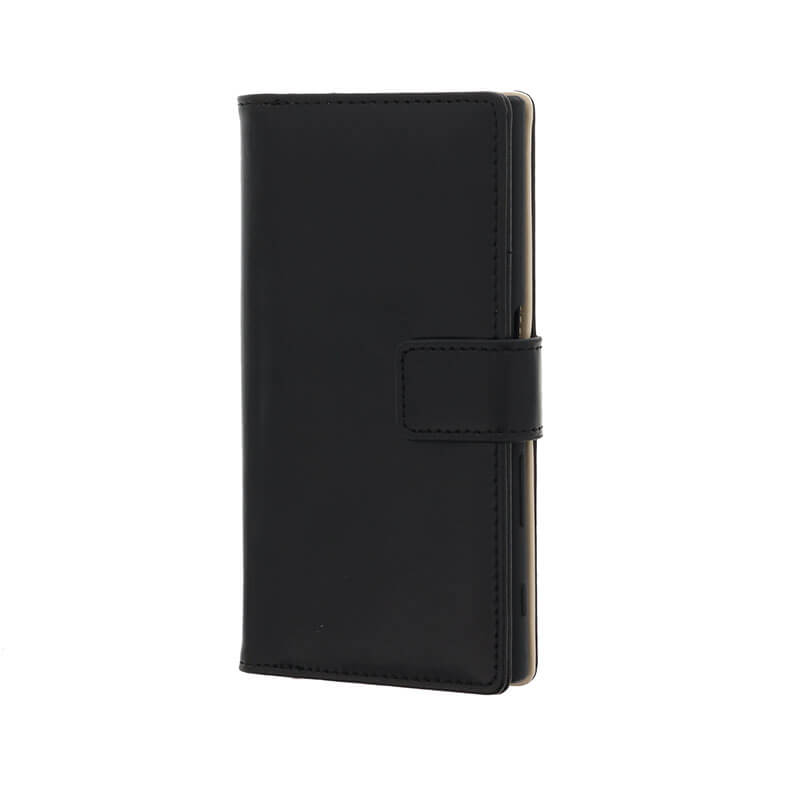 Xperia(TM) XZ SO-01J/SOV34/SoftBank PUレザーブックケース「Precious」 ブラック