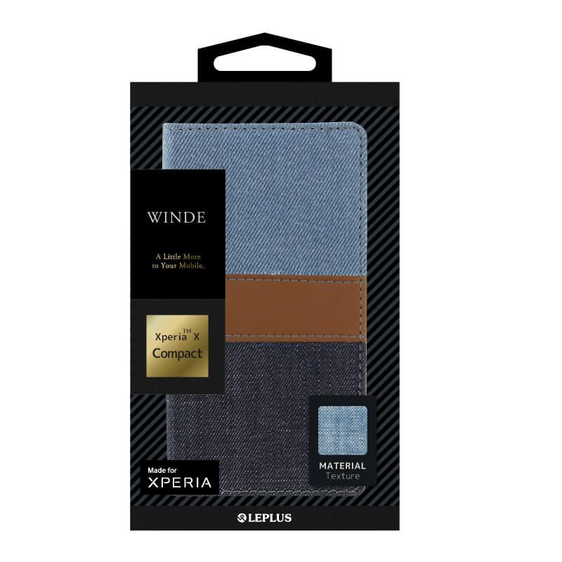 Xperia(TM) X Compact SO-02J デニムフラップケース「WINDE」 C