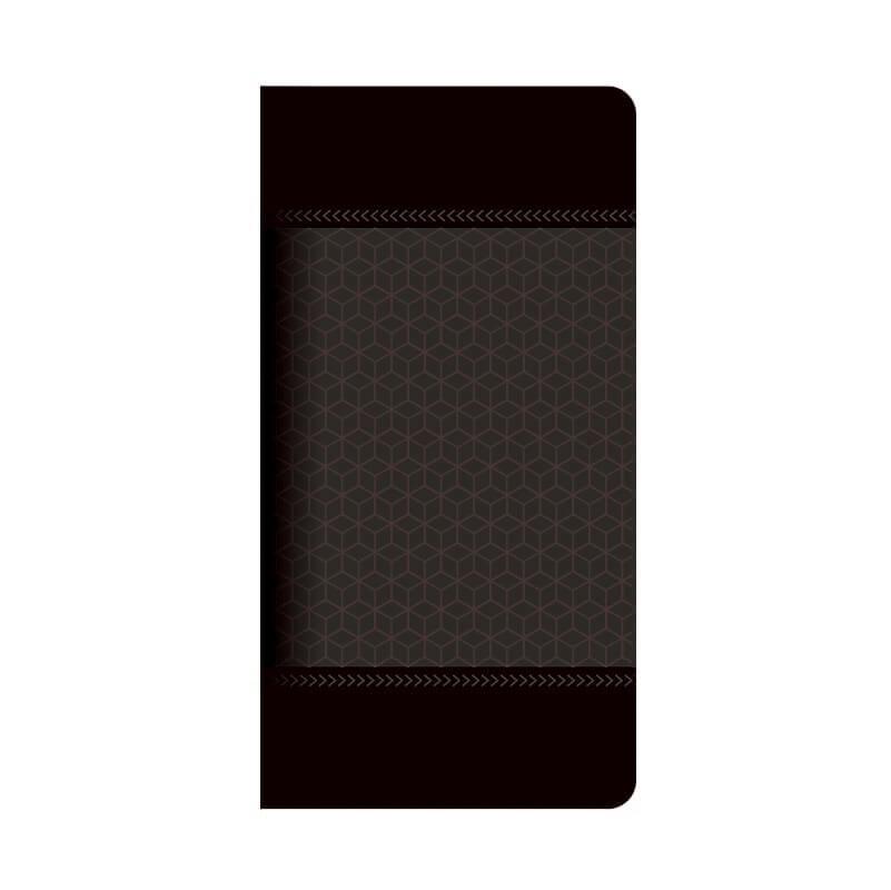 MONO MO-01J  薄型デザインPUレザーケース「Design+」 LIGHT CUBE ブラック