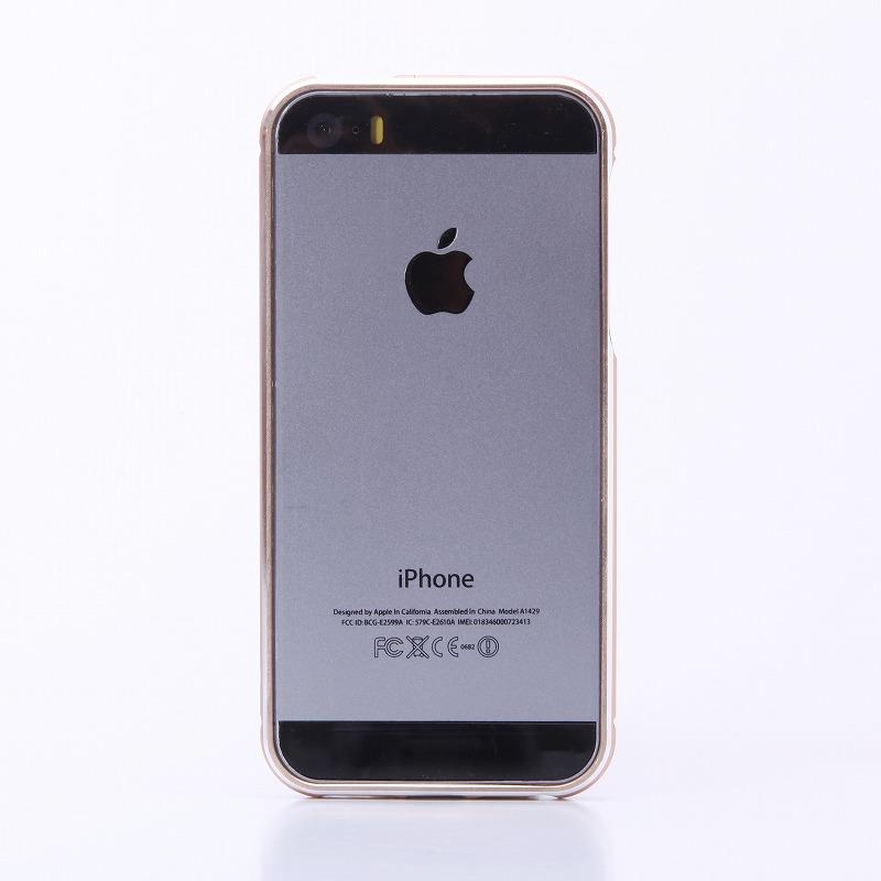 iPhone SE/5S/5 【+U】Shawn/アルミニウムバンパー/ゴールド