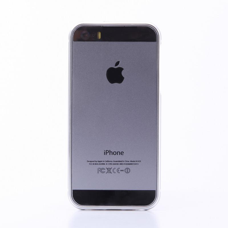 iPhone SE/5S/5 【+U】Shawn/アルミニウムバンパー/シルバー
