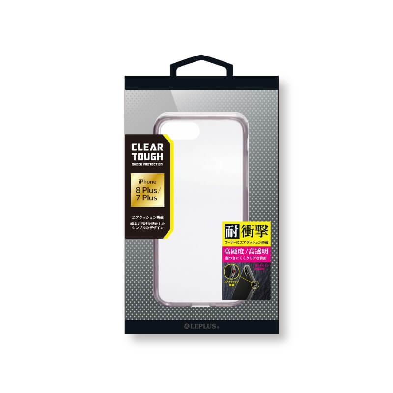 □iPhone 8 Plus/7 Plus 耐衝撃ハイブリッドケース「CLEAR TOUGH」  クリアブラック
