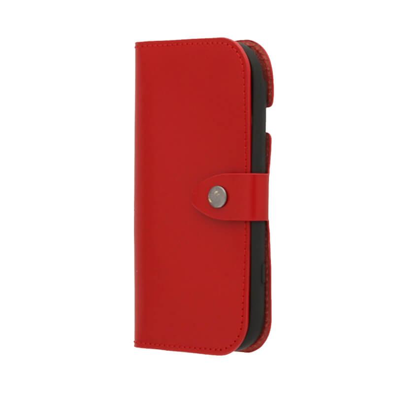 らくらくスマートフォン4 F-04J 本革フラップケース「GLOSS」 レッド