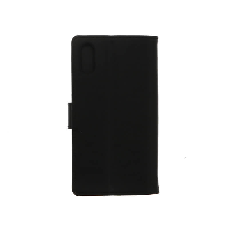 Xperia(TM) XZ/XZs SO-03J/SOV35/SoftBank PUレザーブックケース「Precious」 (耐衝撃TPUケース)ブラック