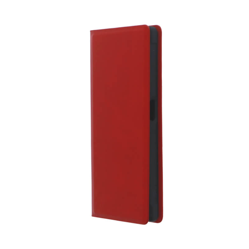 Xperia(TM) XZ/XZs SO-03J/SOV35/SoftBank 薄型PUレザーケース「PRIME」 (耐衝撃TPUケース)レッド
