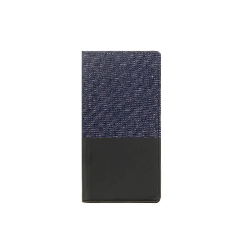 Xperia(TM) XZ/XZs SO-03J/SOV35/SoftBank デニムフラップケース「WINDE」 (耐衝撃TPUケース)ブラック/ブラック C