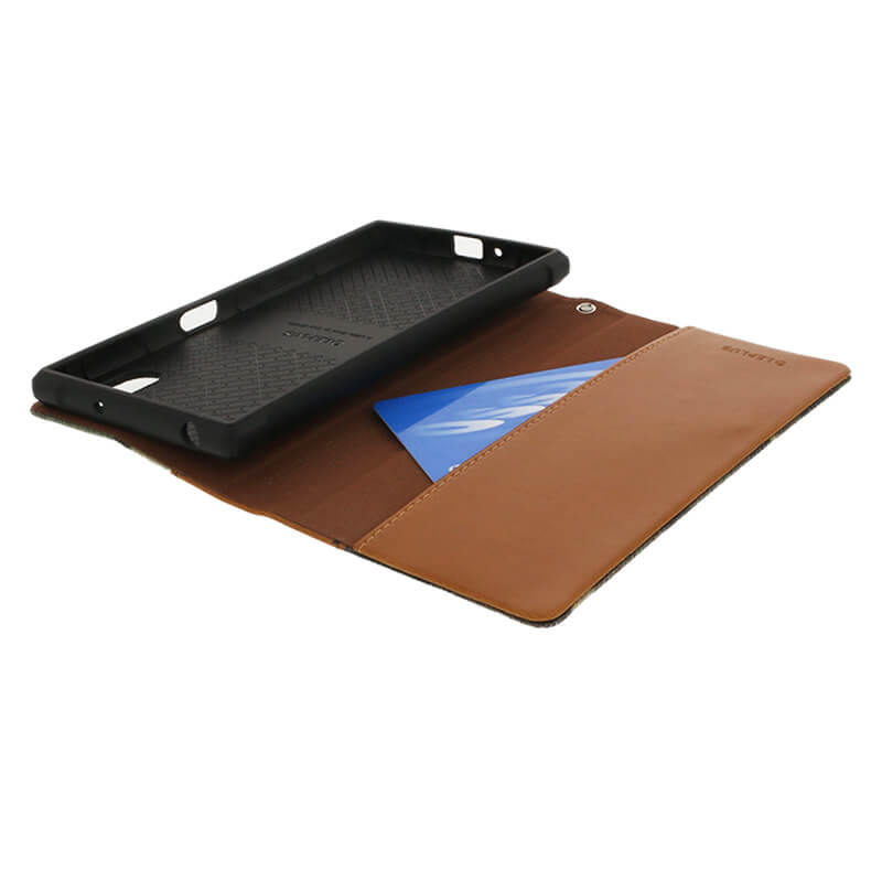 Xperia(TM) XZ/XZs SO-03J/SOV35/SoftBank カモフラージュフラップケース「CAMO」 (耐衝撃TPUケース)グリーン