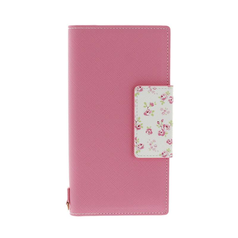 Xperia(TM) XZ/XZs SO-03J/SOV35/SoftBank フラワー柄ブックケース「Bouquet」 ピンク