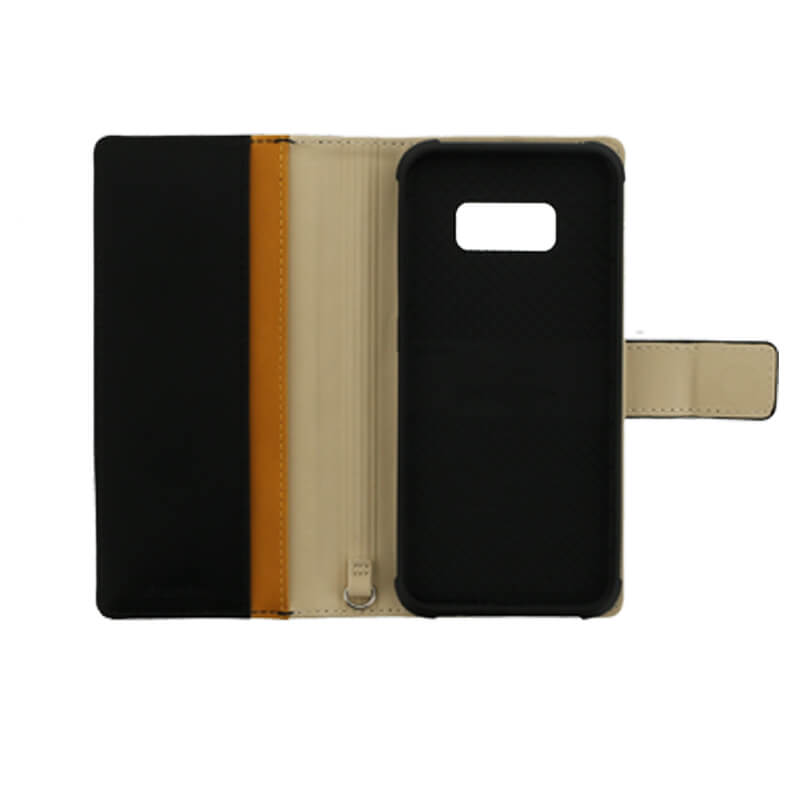 Galaxy S8 SC-02J/SCV36 PUレザーブックケース「Precious」 ブラック