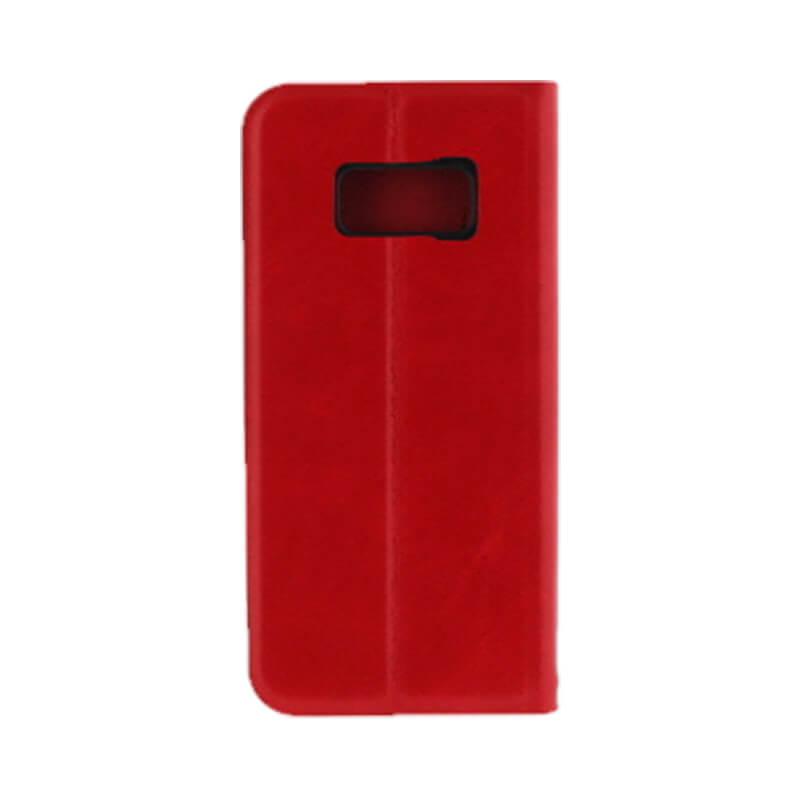 Galaxy S8 SC-02J/SCV36 薄型PUレザーケース「PRIME」 レッド