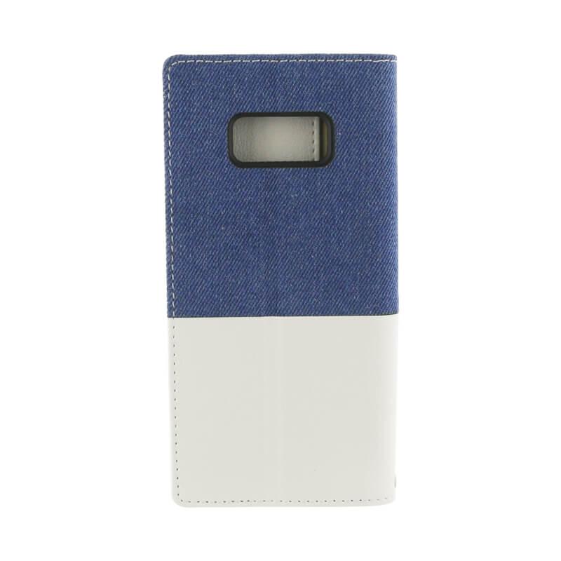 Galaxy S8 SC-02J/SCV36 デニムフラップケース「WINDE」 ライトブルー/ホワイト B