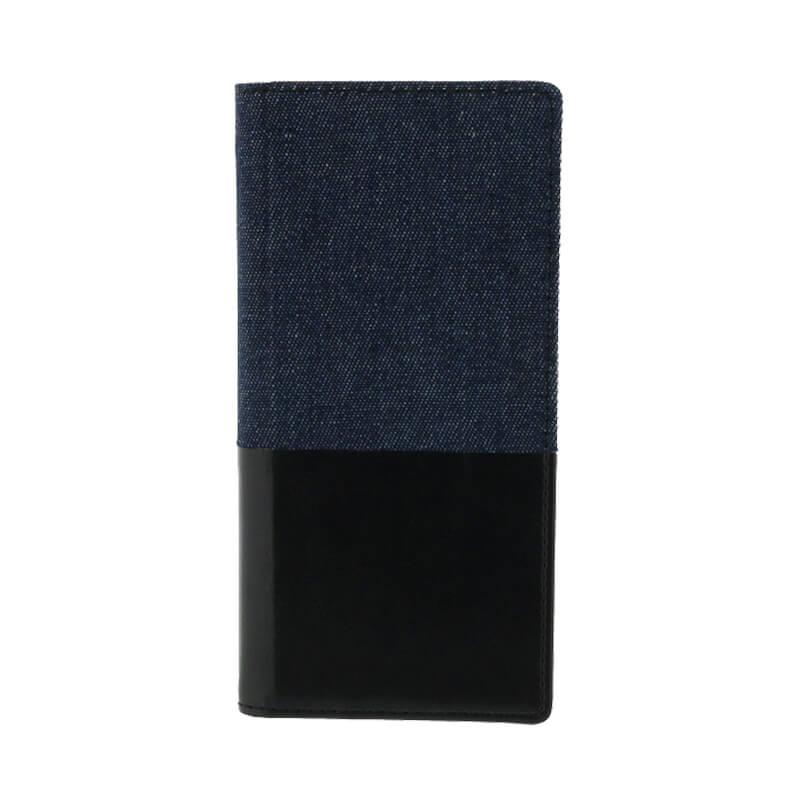 Galaxy S8 SC-02J/SCV36 デニムフラップケース「WINDE」 ブラック/ブラック C