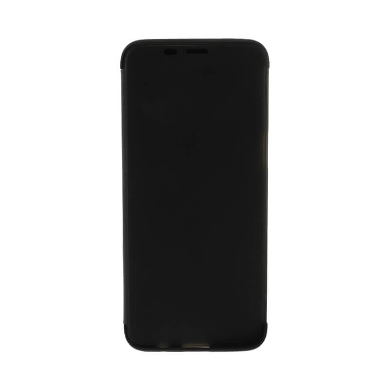 Galaxy S8 SC-02J/SCV36 透明フラップケース「TOUCH FLAP」 ブラック