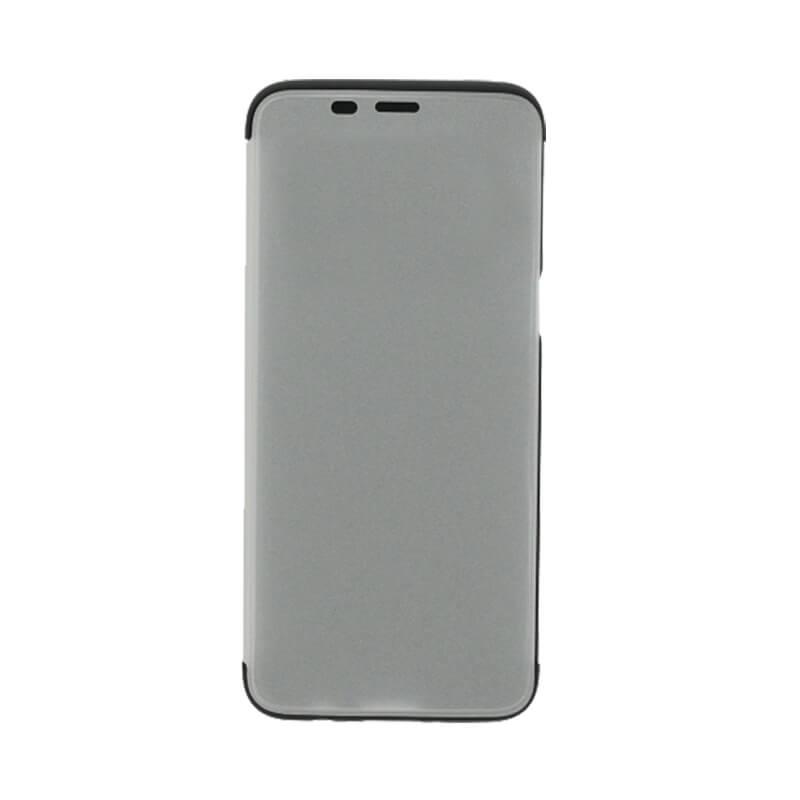 Galaxy S8 SC-02J/SCV36 透明フラップケース「TOUCH FLAP」 シルバー