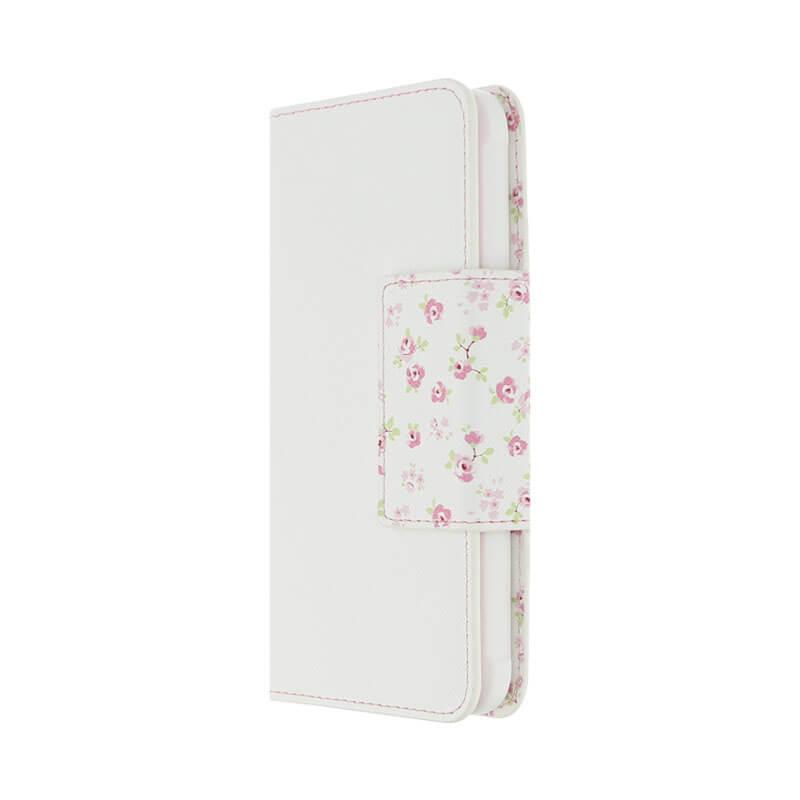 Galaxy Feel SC-04J フラワー柄ブックケース「Bouquet」 ホワイト