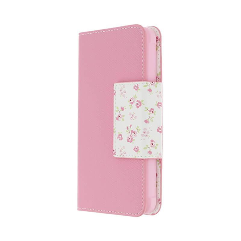 Galaxy Feel SC-04J フラワー柄ブックケース「Bouquet」 ピンク